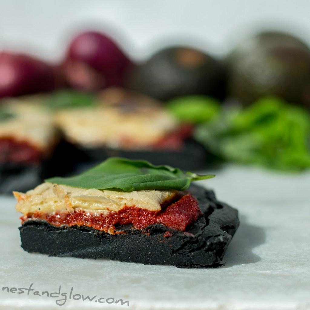 slice charcoal gluten free vegan pizza