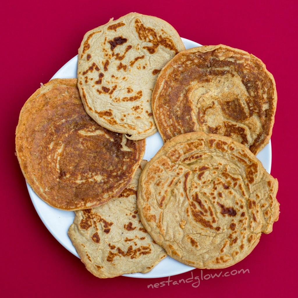 easy vegan healthy lentil pancakes
