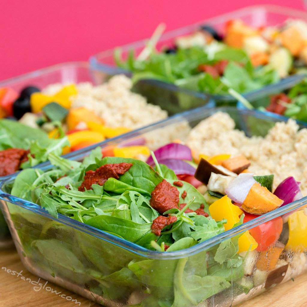 quinoa salad three layers
