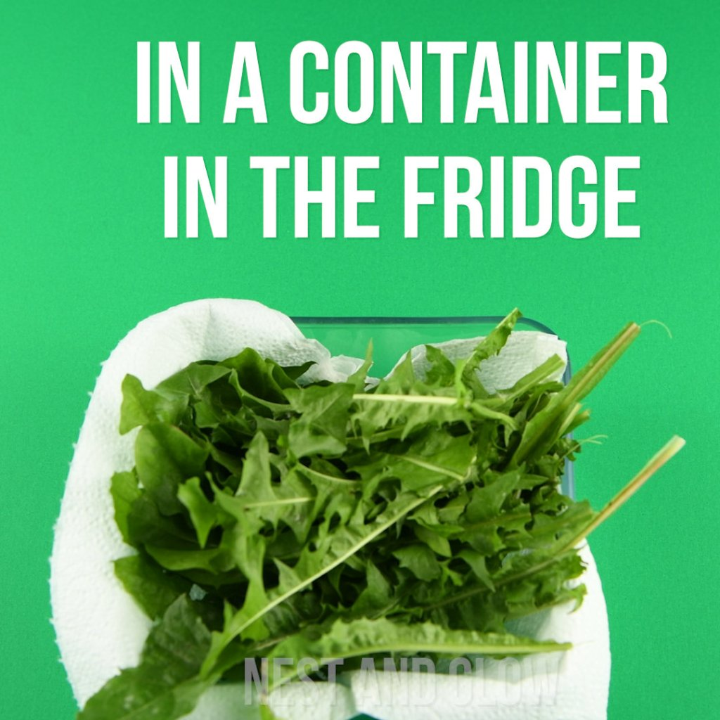 keep leafy greens on paper in the fridge