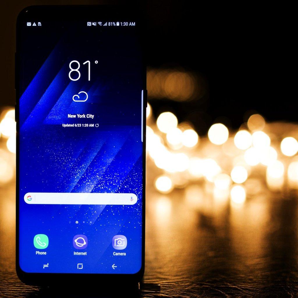 phone bright lights