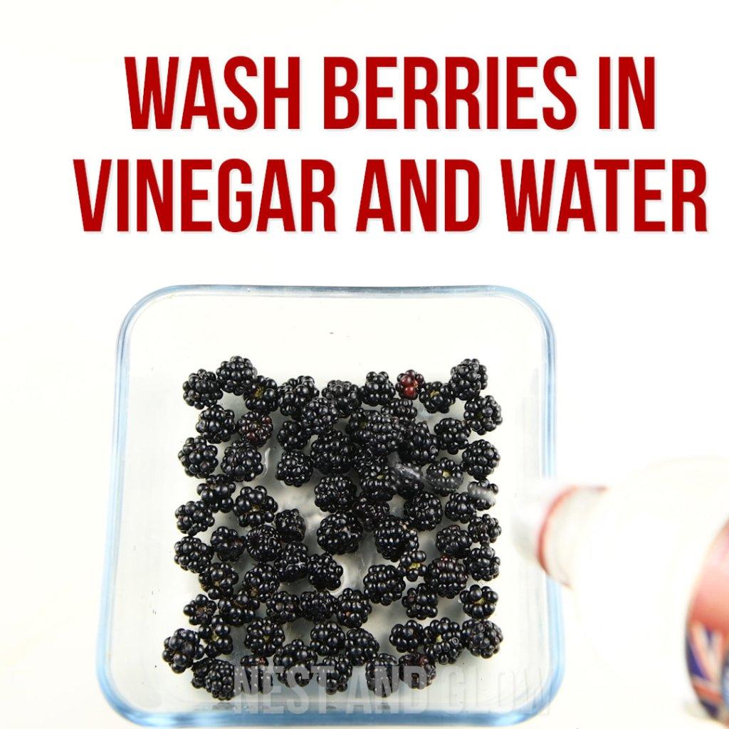 wash berries vinegar water to last longer