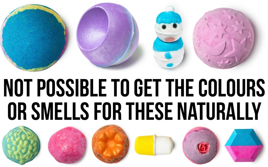 not natural bath bombs