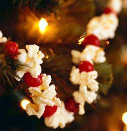 popcorn and cranberries