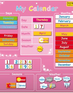 Magnetic my first calendar pink also wall for children  kids in   rh nestdesigns