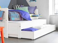 Day Bed with Pull-out Bed + Drawer - White for kids in S.A