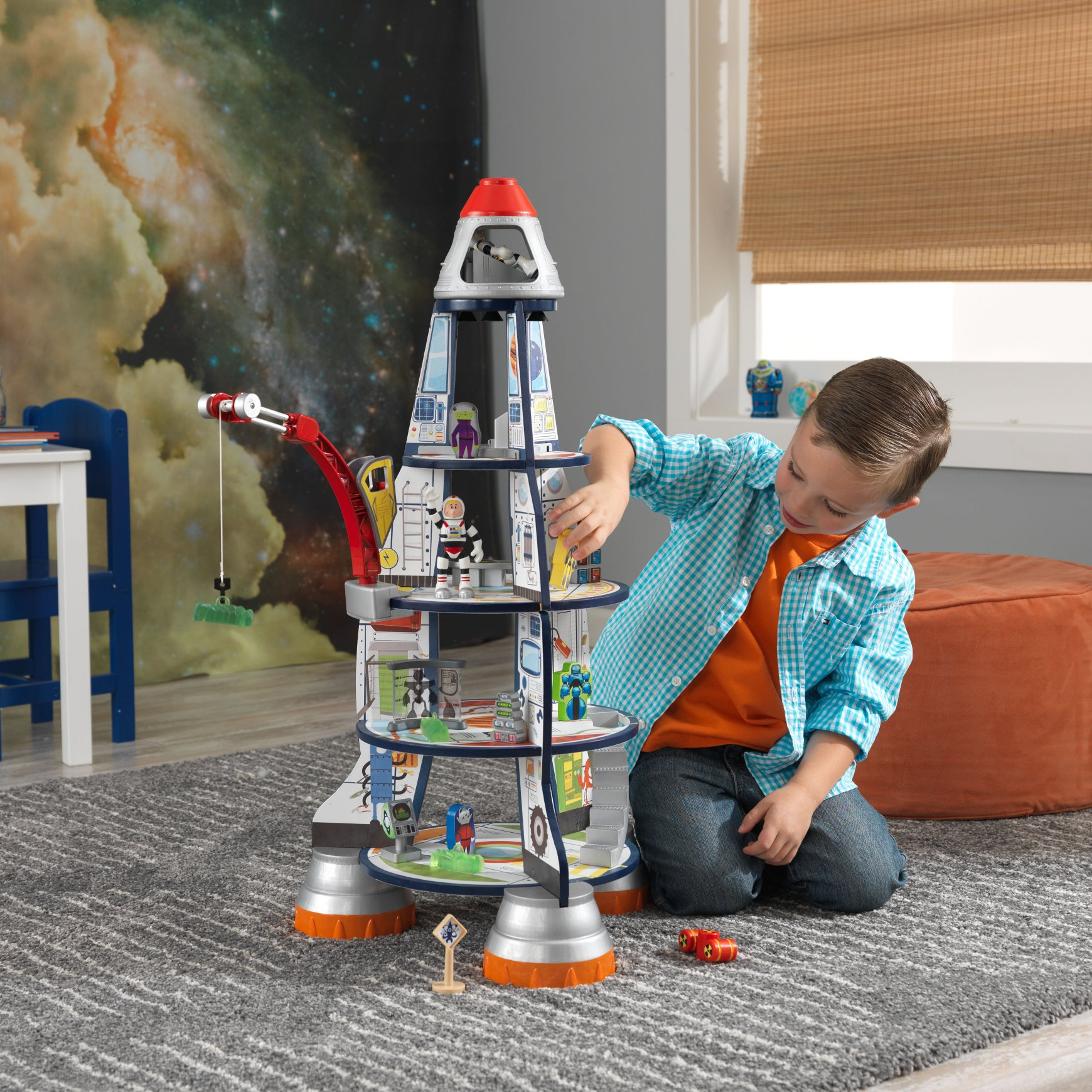 Rocket Ship Wooden Play Set for children in SA