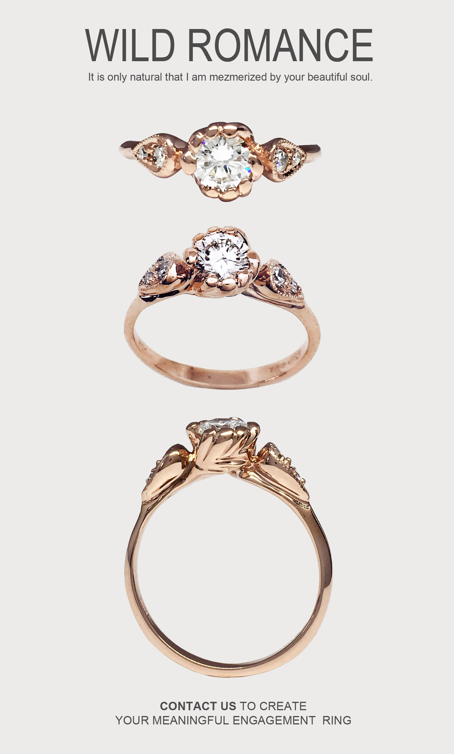 Custom Unique Engagement Rings and Wedding Bands
