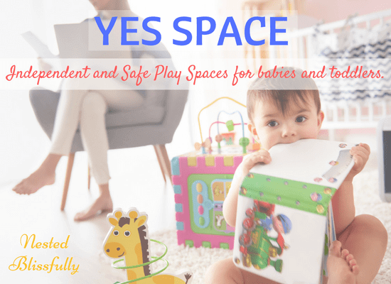 Baby Playing Independently in her Yes Space, while mom working from home.