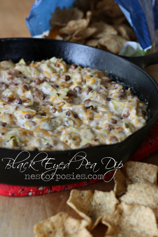 Warm & Delicious Black Eyed Pea Dip