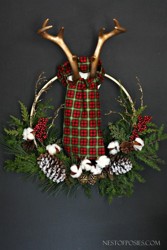 Lumber Jack Antler Wreath