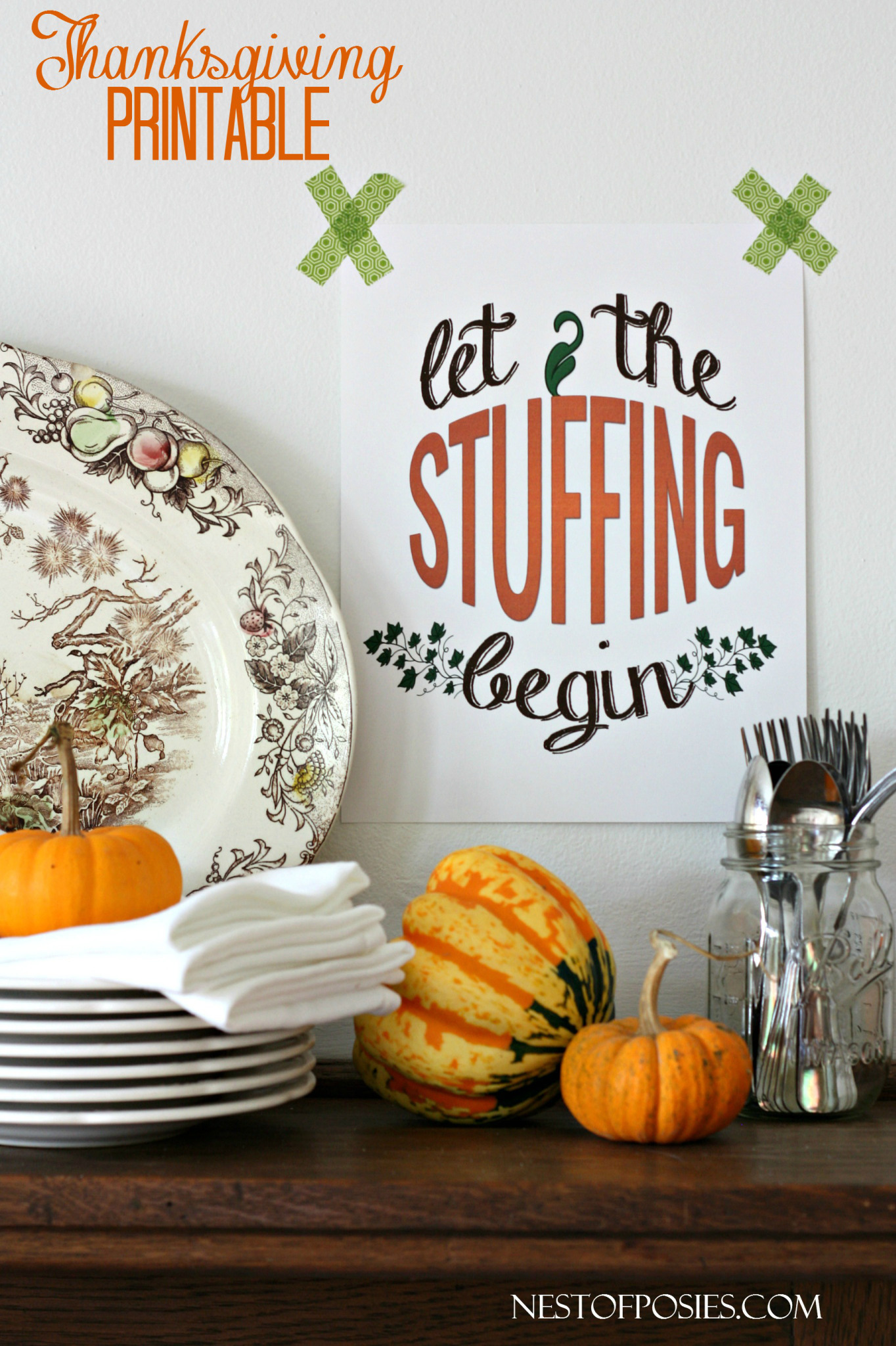 Thankful Bunting Printable