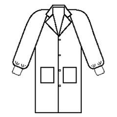 Kimberly-Clark Basic Lab Coat, White, Size Large