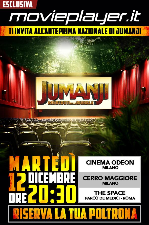 Movieplayerit realizza un progetto di comunicazione integrato in occasione delluscita nei cinema del film JUMANJI Benvenuti nella giungla