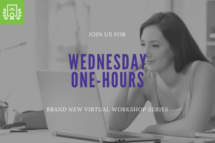 Wednesday One-Hours - new live workshops