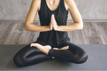 Woman yoga pose to become a yoga instructor