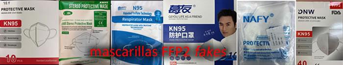 lista mascarillas chinas FFP2 falsas fakes