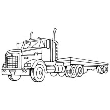 Flatbed Truck Coloring Pages Coloring Coloring Pages