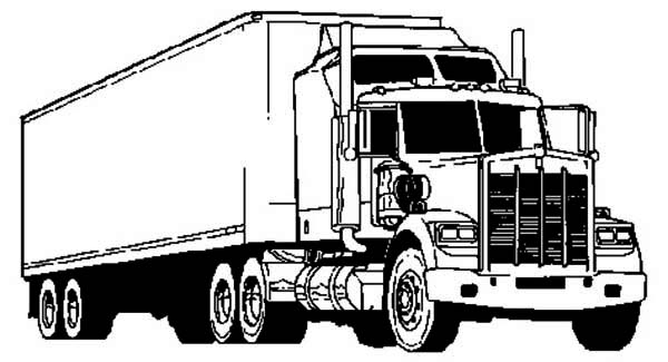optimus prime coloring pages l awesome semi truck coloring page - Optimus Prime Truck Coloring Page