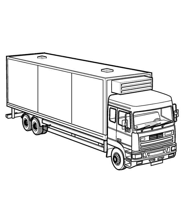 Free coloring pages of ford semi truck