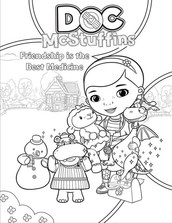 Friendship is the Best Medicine in Doc McStuffins Coloring