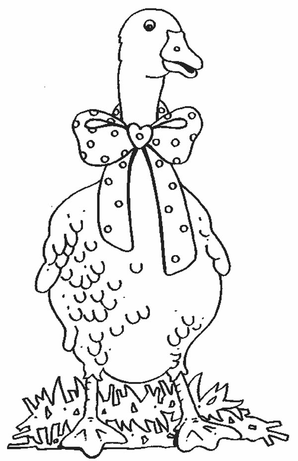 bow tie coloring page here home goose goose with bow tie