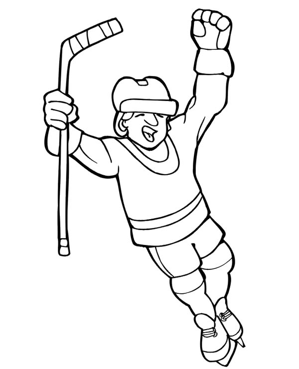 Free field hockey stick coloring pages