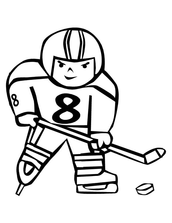 Hockey Player Coloring Pages Coloring Pages