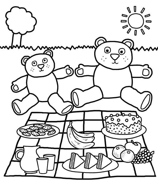 Teddy Bears Picnic Coloring