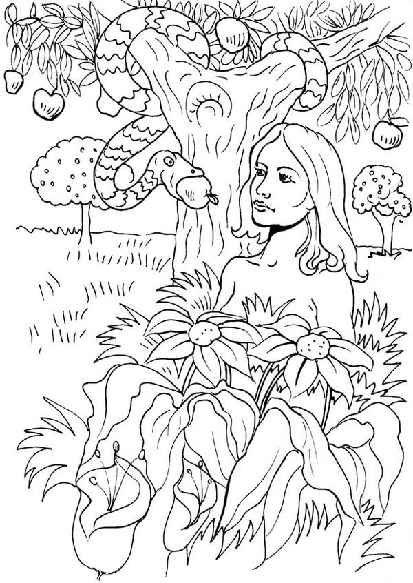 Free coloring pages of garden of eden