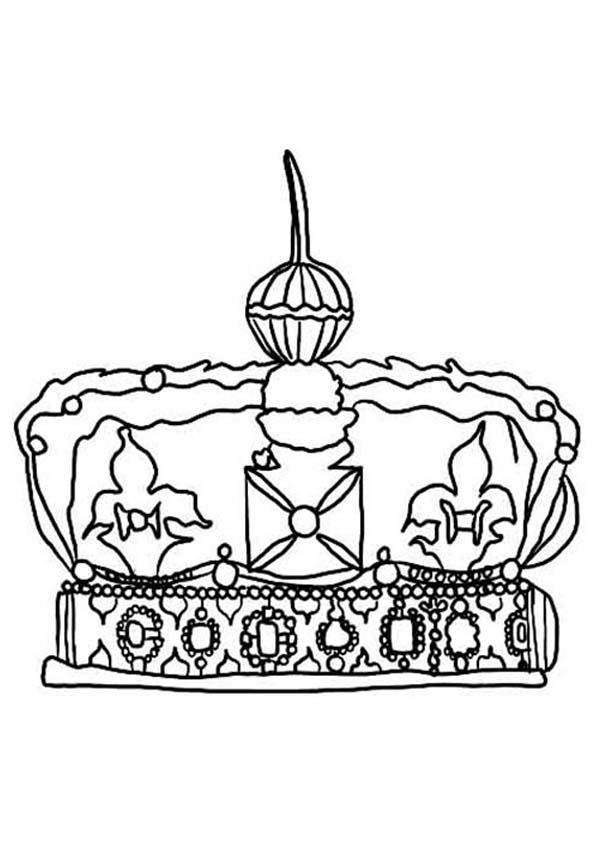 awesome british princess crown coloring page  netart