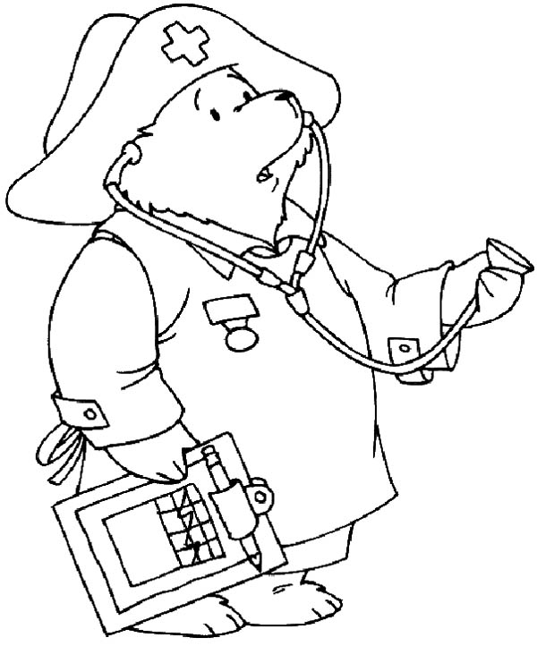 Gallery For > School Nurse Coloring Pages