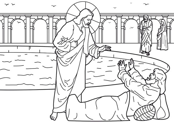 Free jesus heals us coloring pages