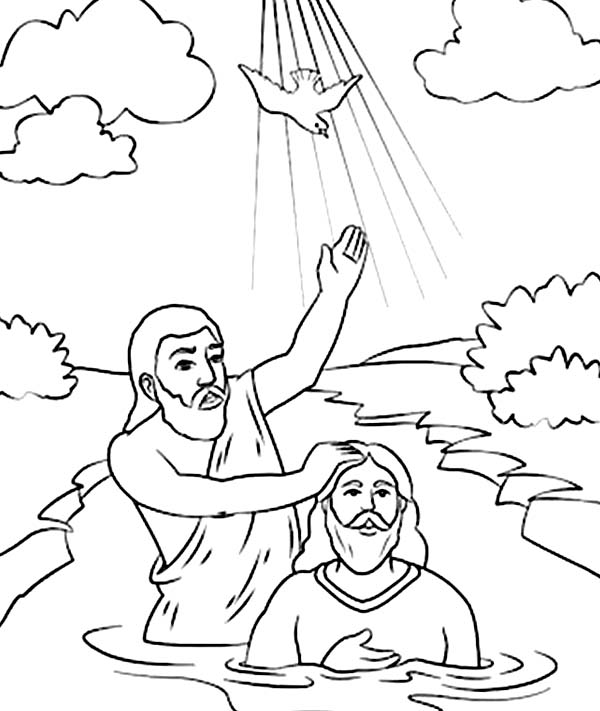 John The Baptist Coloring Page Coloring Pages