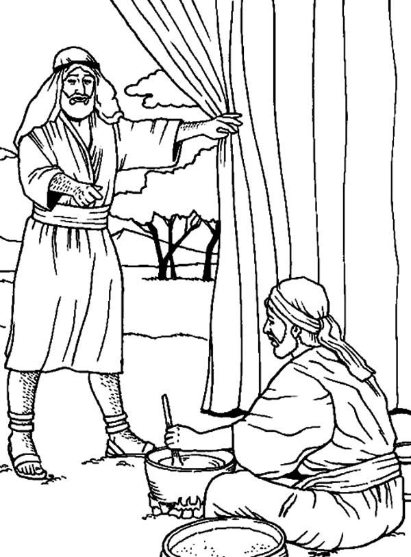 Jakob En Esau Kleurplaat • Kidkleurplaat.nl