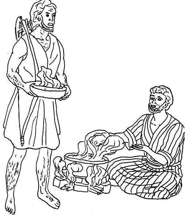 Free coloring pages of jacob and god