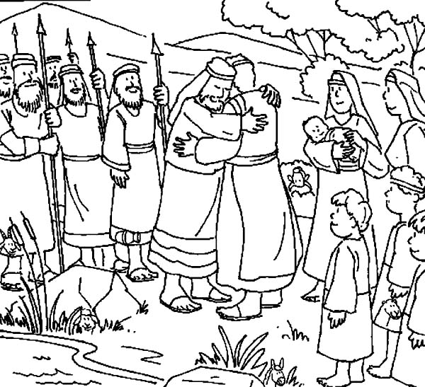 Coloring Picture Of Jesus At Jacob S Well Coloring Pages