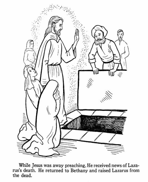 Miracles of Jesus Returning Bethany and Raised Lazarus