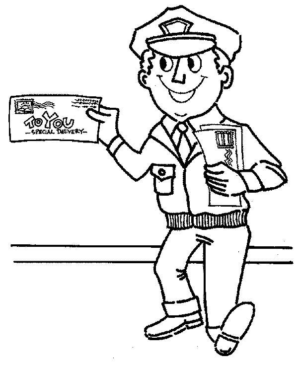 Preschool Community Helper Postman Printable Helpers