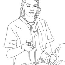 Blood Pressure Cuff Coloring Page Coloring Pages