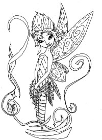 Pixie Hollow Fairies Coloring Pages