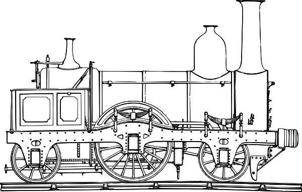 Here Home Steam Train Locomotive Of Coloring Page Sketch