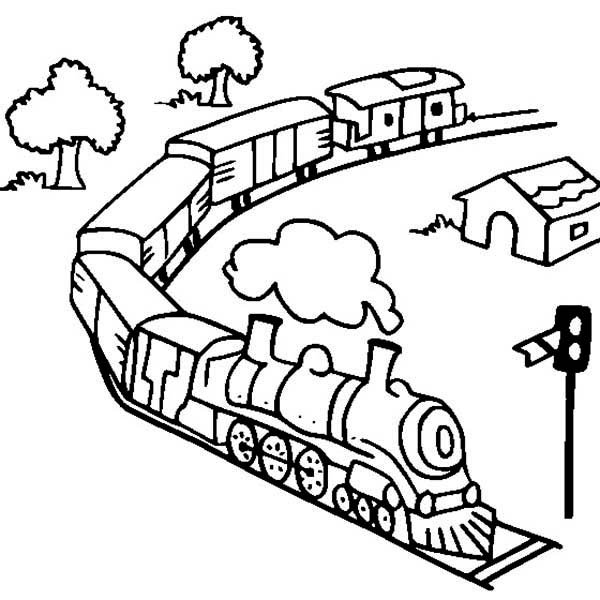 Model Steam Train Coloring Pages Sketch Coloring Page