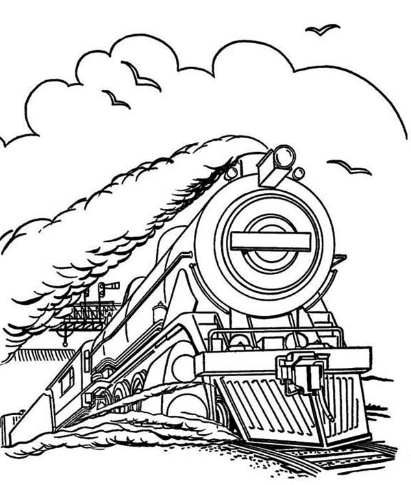 uk steam train Colouring Pages