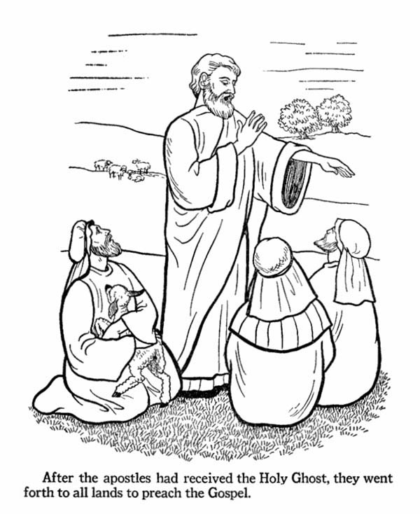 Free coloring pages of jesus calling his disciples