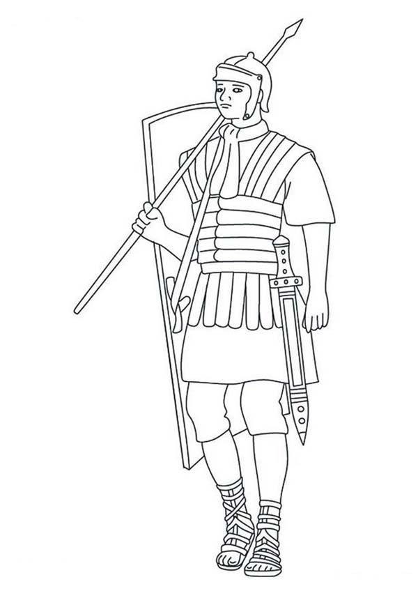 roman soldiers Colouring Pages
