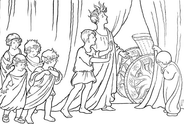 Free coloring pages of roman chariot