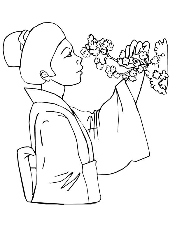 20 Cherry Blossom Geisha Coloring Pages Ideas And Designs