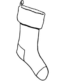 Hanging Christmas Stockings Coloring Pages - NetArt