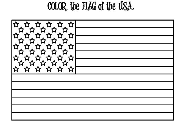 usa flag for independence day event coloring pages  netart